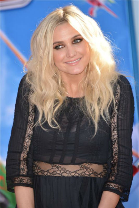 Ashlee Simpson attends the premiere of Disney's 'Planes' film at the El Capitan Theatre in Hollywood, California on Aug. 5, 2013.