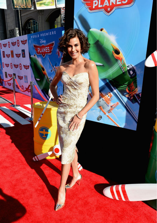 Teri Hatcher attends the premiere of Disney's 'Planes' film at the El Capitan Theatre in Hollywood, California on Aug. 5, 2013.