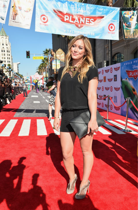 Hilary Duff attends the premiere of Disney's 'Planes' film at the El Capitan Theatre in Hollywood, California on Aug. 5, 2013.