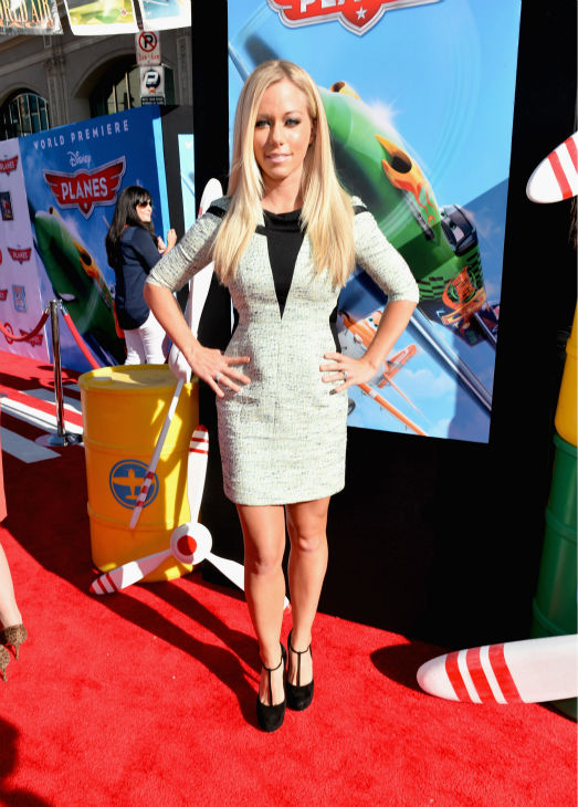 Kendra Wilkinson Baskett attends the premiere of Disney's 'Planes' film at the El Capitan Theatre in Hollywood, California on Aug. 5, 2013.