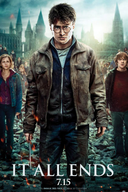 Daniel Radcliffe &#40;center&#41;, Rupert Grint &#40;left&#41; and Emma Watson appear in a promotional photo for the film &#39;Harry Potter and the Deathly Hallows - Part 2.&#39; <span class=meta>(Warner Bros. Pictures)</span>