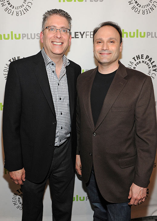 &#39;The Big Bang Theory&#39; executive producers Bill Prady and Steven Molaro attend the Paley Center for Media&#39;s PaleyFest honoring the CBS show at the Saban Theatre, courtesy of Samsung Galaxy, on Wednesday, March 13, 2013 in Los Angeles. <span class=meta>(Kevin Parry for Paley Center for Media)</span>