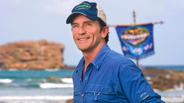 Jeff Probst appears in a photo from the TV series 'Survivor.'
