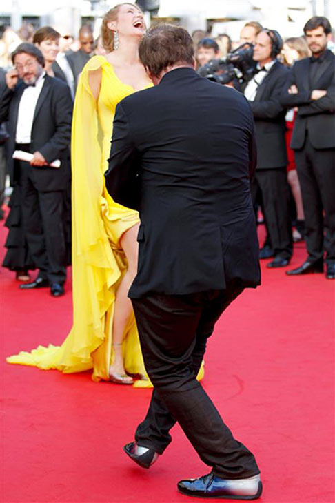 "<div class=""meta ""><span class=""caption-text "">Director Quentin Tarantino and actress Uma Thurman arrive for the screening of 'Clouds of Sils Maria' at the Cannes Film Festival in France on May 23, 2014. He directed the actress in 'Pulp Fiction,' which marks its 20th anniversary in October. (Graham Whitby Boot / Startraksphoto.com)</span></div>"