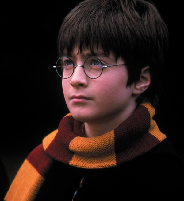 Harry Potter (Daniel Radcliffe) appears in a scene from the 2001 film 'Harry Potter and the Sorcerer's Stone,' also called 'Harry Potter and the Philosopher's Stone.'