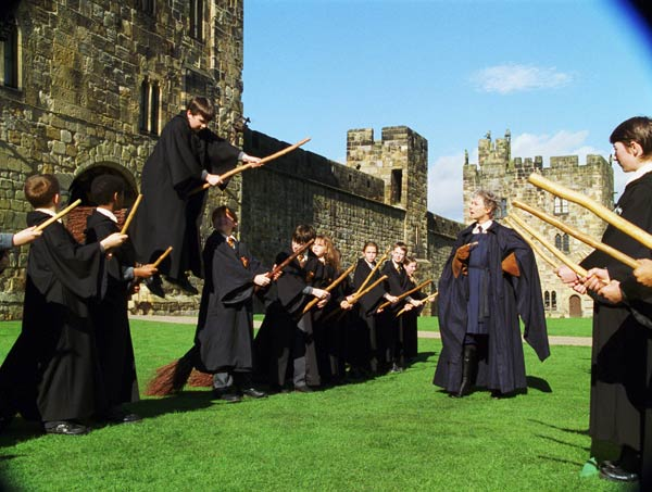 Harry Potter &#40;Daniel Radcliffe&#41; and his classmates take a flying lesson in a scene from the 2001 film &#39;Harry Potter and the Sorcerer&#39;s Stone,&#39; also called &#39;Harry Potter and the Philosopher&#39;s Stone.&#39; <span class=meta>(Warner Bros. Pictures)</span>