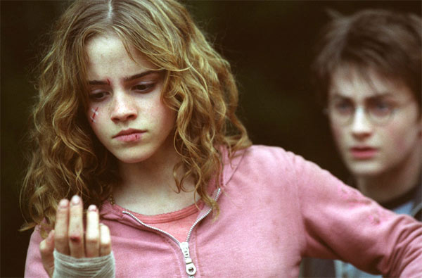 Hermione Granger (Emma Watson) and Harry Potter...