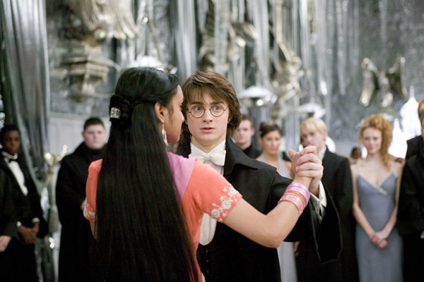 "<div class=""meta ""><span class=""caption-text "">Harry Potter (Daniel Radcliffe) and his Yule Ball date Parvati Patil (Shefali Chowdhury) appear in a scene from the 2005 film 'Harry Potter and the Goblet of Fire.' (Warner Bros. Pictures)</span></div>"