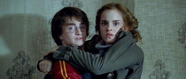 Hermione Granger &#40;Emma Watson&#41; and Harry Potter &#40;Daniel Radcliffe&#41; appear in a scene from the 2005 film &#39;Harry Potter and the Goblet of Fire.&#39; <span class=meta>(Warner Bros. Pictures)</span>