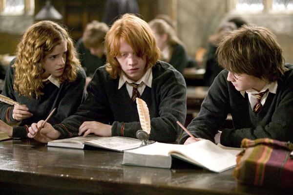 "<div class=""meta ""><span class=""caption-text "">Hermione Granger (Emma Watson), Ron Weasley (Rupert Grint) and Harry Potter (Daniel Radcliffe) appear in a scene from the 2005 film 'Harry Potter and the Goblet of Fire.' (Warner Bros. Pictures)</span></div>"