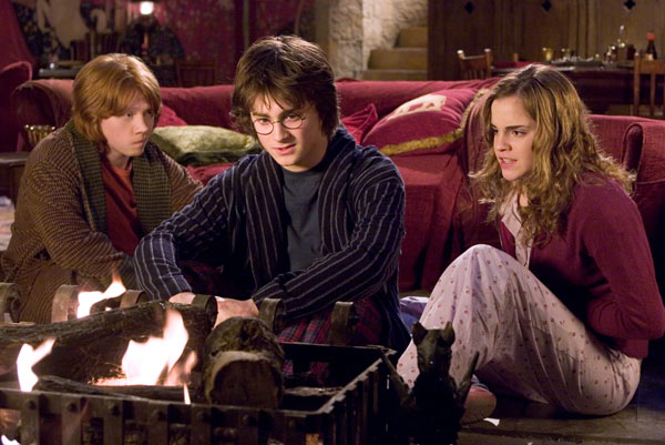 Ron Weasley &#40;Rupert Grint&#41;, Harry Potter &#40;Daniel Radcliffe&#41; and Hermione Granger &#40;Emma Watson&#41; appear in a scene from the 2005 film &#39;Harry Potter and the Goblet of Fire.&#39; <span class=meta>(Warner Bros. Pictures)</span>