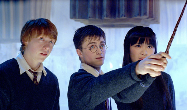 Ron Weasley &#40;Rupert Grint&#41;, Harry Potter &#40;Daniel Radcliffe&#41; and Cho Chang &#40;Katie Leung&#41; appear in a scene from the 2007 film &#39;Harry Potter and the Order of the Phoenix.&#39; <span class=meta>(Warner Bros. Pictures)</span>