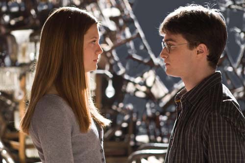 "<div class=""meta ""><span class=""caption-text "">Ginny Weasley (Bonnie Wright) and Harry Potter (Daniel Radcliffe) appear in a scene from the 2009 film 'Harry Potter and the Half-Blood Prince.' (Warner Bros. Pictures)</span></div>"