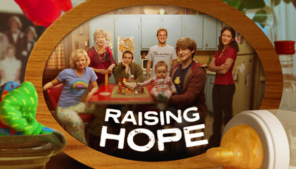 (Pictured: The cast from 'Raising Hope' appear in a promotional photo for the FOX series.)