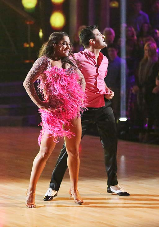 "<div class=""meta image-caption""><div class=""origin-logo origin-image ""><span></span></div><span class=""caption-text"">Olympic gymnast Aly Raisman and her partner Mark Ballas received 21 out of 30 points from the judges for their Cha Cha Cha routine on the season premiere of 'Dancing With The Stars,' which aired on March 18, 2013. (ABC Photo)</span></div>"