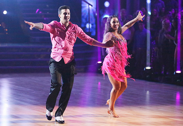 Olympic gymnast Aly Raisman and her partner Mark Ballas received 21 out of 30 points from the judges for their Cha Cha Cha routine on the season premiere of &#39;Dancing With The Stars,&#39; which aired on March 18, 2013. <span class=meta>(ABC Photo)</span>