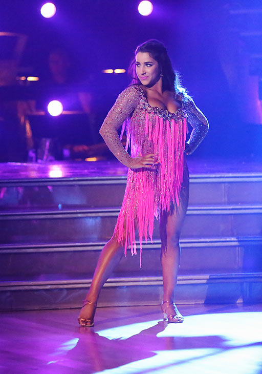 "<div class=""meta ""><span class=""caption-text "">Olympic gymnast Aly Raisman and her partner Mark Ballas (not pictured) received 21 out of 30 points from the judges for their Cha Cha Cha routine on the season premiere of 'Dancing With The Stars,' which aired on March 18, 2013. (ABC Photo)</span></div>"