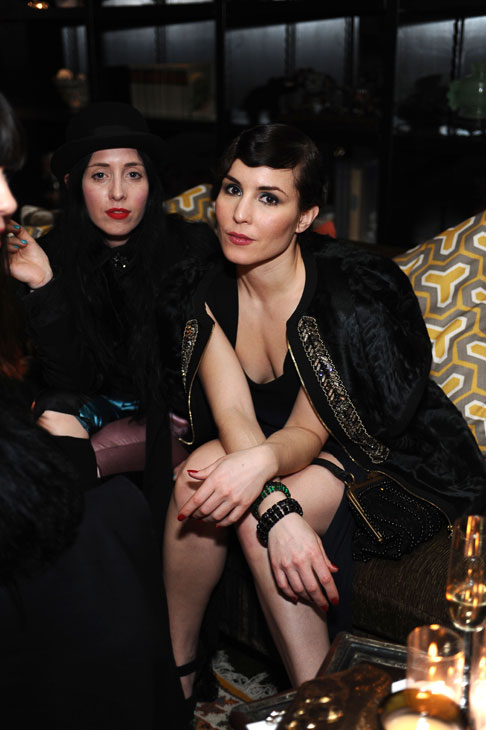 Noomi Rapace appears at the launch party for H and M&#39;s Marni collection in Los Angeles on Feb. 17, 2012.  The store also featured a collection inspired by &#39;The Girl With The Dragon Tattoo&#39; as part of a promotion for the 2011 U.S. film. Rapace is sitting next to celebrity stylist Bea Akerlund. <span class=meta>(H and M &#47; Marni)</span>