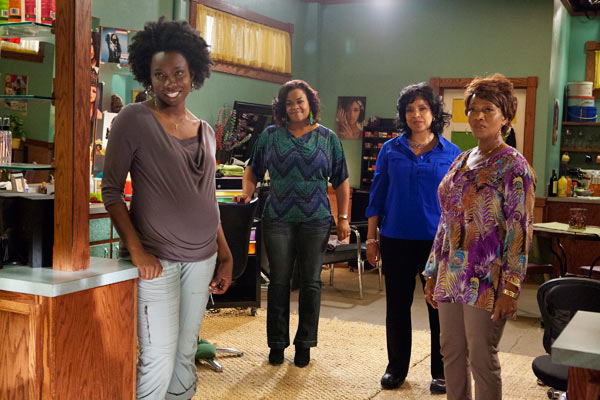 L to R: Adepero Oduye (Annelle), Jill Scott (Truvy), Phylicia Rashad (Clariee) and Alfre Woodard (Ouiser) star in the all-new  Lifetime Original Movie, 'Steel Magnolias,' premiering on Lifetime on Oct. 7, 2012.