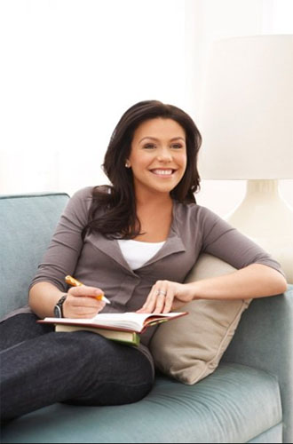 Promotional still of Rachel Ray on her personal...