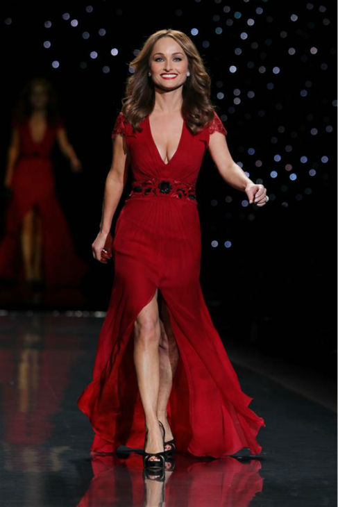 Food Network chef Giada De Laurentiis &#40;wearing Carolina Herrera&#41; walks the runway at the Go Red For Women&#47;The Heart Truth Red Dress 2014 Collection fashion show during Mercedes-Benz Fashion Week in New York on Feb. 6, 2014. <span class=meta>(Amanda Schwab &#47; Startraksphoto.com)</span>