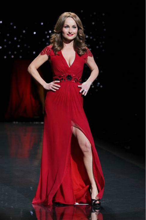 "<div class=""meta image-caption""><div class=""origin-logo origin-image ""><span></span></div><span class=""caption-text"">Food Network chef Giada De Laurentiis (wearing Carolina Herrera) walks the runway at the Go Red For Women/The Heart Truth Red Dress 2014 Collection fashion show during Mercedes-Benz Fashion Week in New York on Feb. 6, 2014. (Amanda Schwab / Startraksphoto.com)</span></div>"
