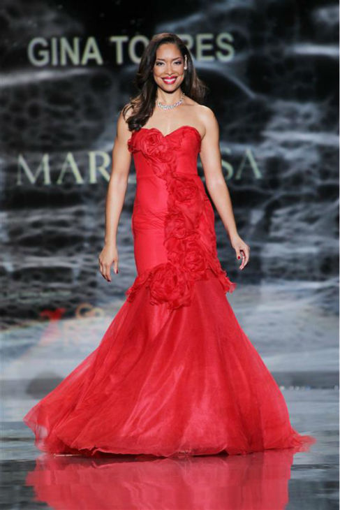 Gina Torres &#40;&#39;Serenity&#39;&#41; walks the runway at the Go Red For Women&#47;The Heart Truth Red Dress 2014 Collection fashion show during Mercedes-Benz Fashion Week in New York on Feb. 6, 2014. she is wearing a design by Marchesa. <span class=meta>(Amanda Schwab &#47; Startraksphoto.com)</span>