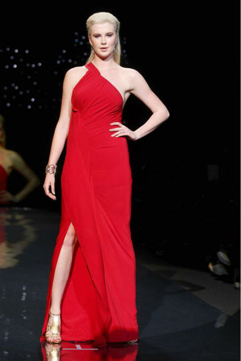 Ireland Baldwin, an 18-year-old model and daughter of actors Alec Baldwin and Kim Basinger, walks the runway at the Go Red For Women&#47;The Heart Truth Red Dress 2014 Collection fashion show during Mercedes-Benz Fashion Week in New York on Feb. 6, 2014. She is wearing a design by Donna Karan. <span class=meta>(Amanda Schwab &#47; Startraksphoto.com)</span>