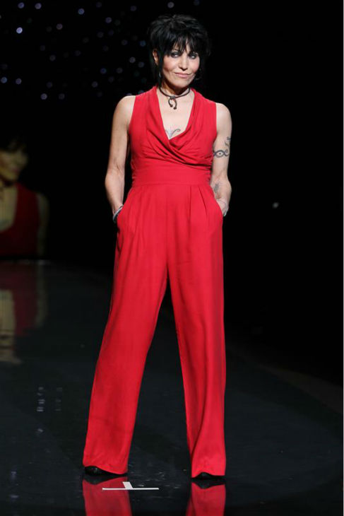 "<div class=""meta image-caption""><div class=""origin-logo origin-image ""><span></span></div><span class=""caption-text"">Rock star Joan Jett (wearing Catherine Malandrino) walks the runway at the Go Red For Women/The Heart Truth Red Dress 2014 Collection fashion show during Mercedes-Benz Fashion Week in New York on Feb. 6, 2014. (Amanda Schwab / Startraksphoto.com)</span></div>"