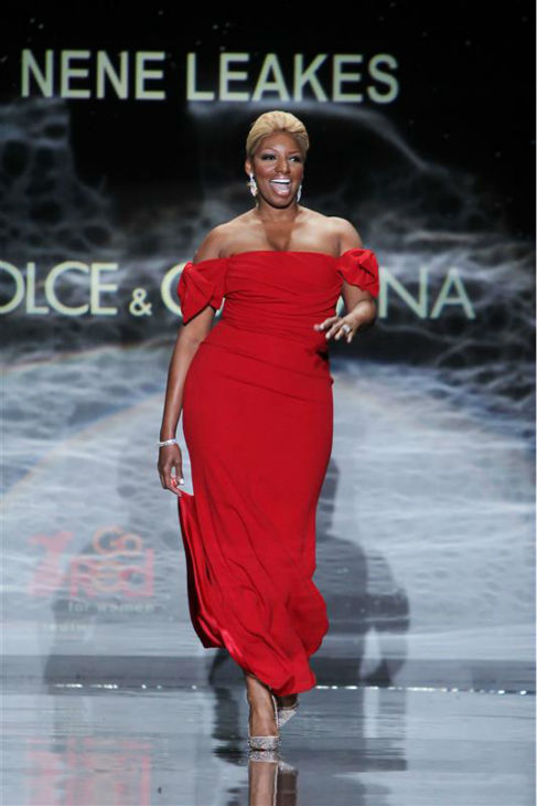 "<div class=""meta image-caption""><div class=""origin-logo origin-image ""><span></span></div><span class=""caption-text"">Actress and reality star NeNe Leakes (wearing Black Halo) walks the runway at the Go Red For Women/The Heart Truth Red Dress 2014 Collection fashion show during Mercedes-Benz Fashion Week in New York on Feb. 6, 2014. (Amanda Schwab / Startraksphoto.com)</span></div>"
