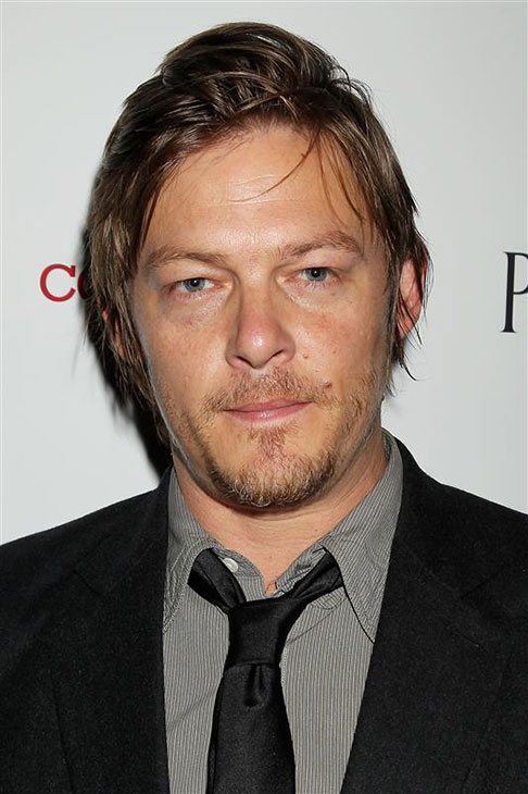 The &#39;Focus-On-The-Stare-And-Not-The-Hair&#39; stare: Norman Reedus appears at the premiere of &#39;The Conspirator&#39; in New York on April 11, 2011. <span class=meta>(Dave Allocca &#47; Startraksphoto.com)</span>