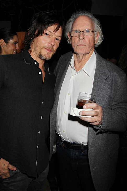 The &#39;Mad-Respect-For-This-Guy&#39; stare: Norman Reedus appears with Oscar-nominated actor Bruce Dern, recently seen in the movie &#39;Nebraska,&#39; an after party following the opening night of the Savannah Film Festival at the Savannah College of Art and Design in Savannah, Georgia on Oct. 26, 2013. <span class=meta>(Dave Allocca &#47; Startraksphoto.com)</span>