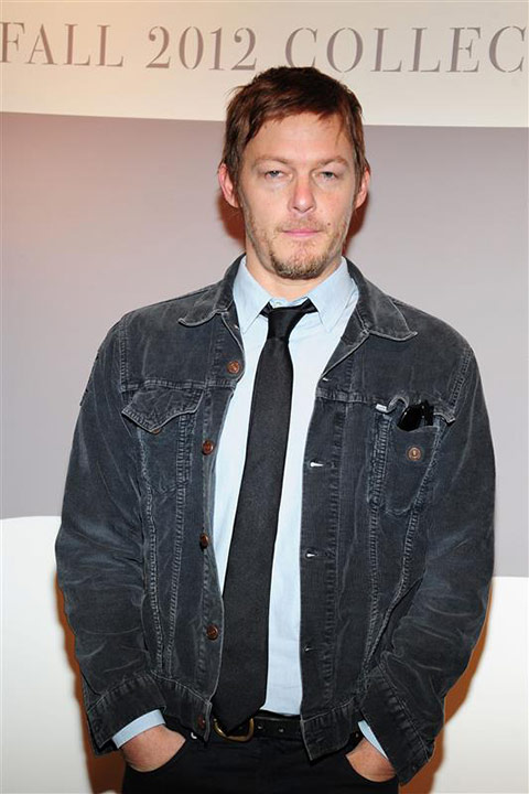 The &#39;Too-Sexy-For-My-Stare&#39; stare: Norman Reedus appears at Levi&#39;s Fall 2012 Global Collection preview show during Mercedes-Benz Fashion Week in New York on Feb. 15, 2012. <span class=meta>(Albert Michael &#47; Startraksphoto.com)</span>