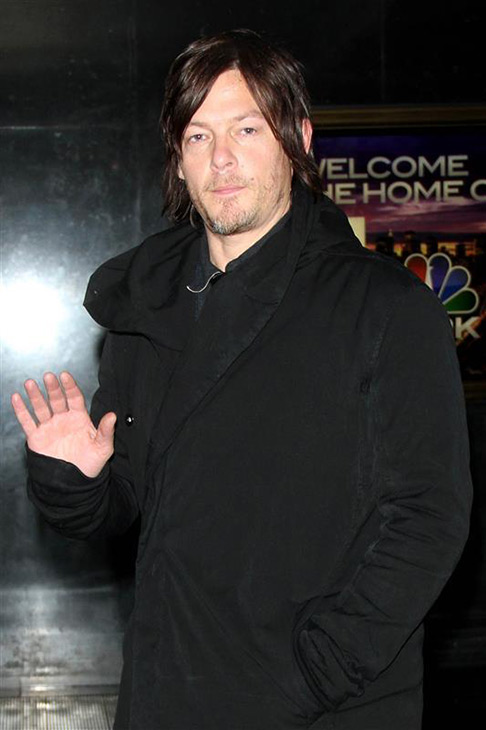 The &#39;Oh-Hey&#39; stare: Norman Reedus appears at the NY Live! event in New York on Feb. 20, 2013. <span class=meta>(R Wong &#47; Startraksphoto.com)</span>