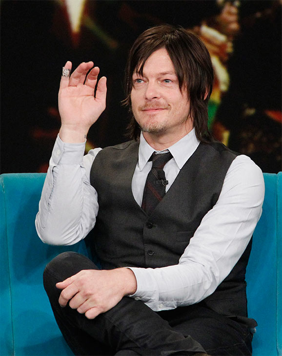 "<div class=""meta image-caption""><div class=""origin-logo origin-image ""><span></span></div><span class=""caption-text"">Norman Reedus, who plays Daryl Dixon on AMC's 'The Walking Dead,' appears on the ABC show 'The View' on Nov. 26, 2013. (ABC / Lou Rocco)</span></div>"