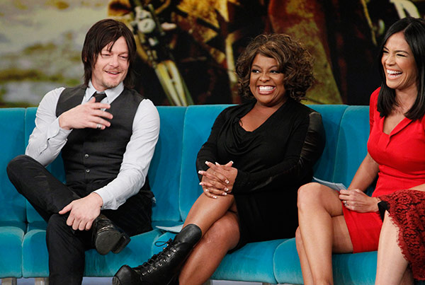 "<div class=""meta image-caption""><div class=""origin-logo origin-image ""><span></span></div><span class=""caption-text"">Norman Reedus, who plays Daryl Dixon on AMC's 'The Walking Dead,' appears on the ABC show 'The View' on Nov. 26, 2013. Also pictured: Co-host Sherri Shepherd and guest co-host Karla Martinez (ABC / Lou Rocco)</span></div>"