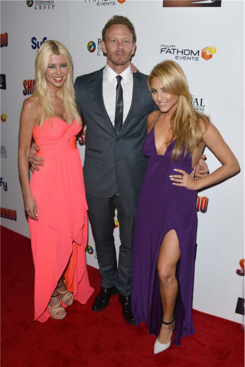 Tara Reid, Ian Ziering and Cassie Scerbo attend the premiere of 'Sharknado' on Aug. 2, 2013. The film aired on SyFy in July and was widely praised -- and mocked -- on Twitter. It was screened in select theaters on the night of the premiere.
