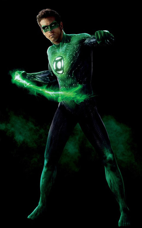 Ryan Reynolds appears in a promotional photo for the 2011 movie 'Green Lantern.'