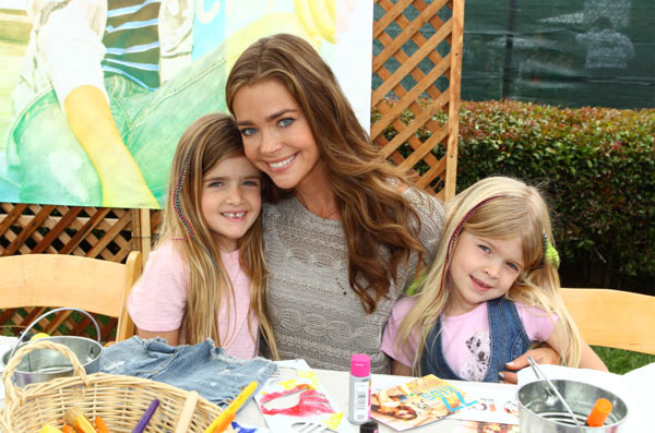 Denise Richards and daughters Sam and Lola, whose father is the actress&#39; ex-husband Charlie Sheen, appear at the &#39;Surfin&#39; Safari-themed 77kids by American Eagle Denim Decorating Booth at the 22nd annual Elizabeth Glaser Pediatric Aids Foundation &#39;A Time For Heroes&#39; Celebrity Picnic. The event was held at Wadsworth Great Lawn in the Brentwood area of Los Angeles, California on Sunday, June 22, 2011. <span class=meta>(WireImage)</span>