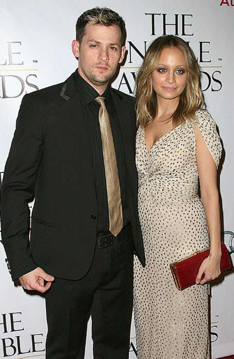 Joel Madden and Nicole Richie appear together at an event on Oct. 19, 2009.