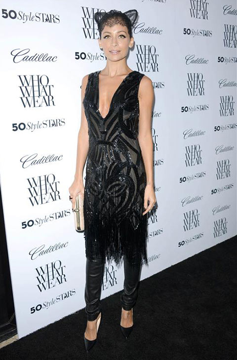 Nicole Richie wears a black outfit with cat ears to Who What Wear&#39;s 50 Most Stylish Stars of 2013 party at the London Hotel in Los Angeles on Oct. 24, 2013. <span class=meta>(Lionel Hahn&#47;AbacaUSA&#47;startraksphoto.com)</span>