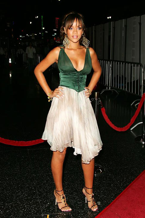 Rihanna appears at the 2005 World Music Awards in Los Angeles on Aug. 31, 2005.