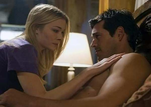 LeAnn Rimes and husband Eddie Cibrian appear in a scene from the 2009 film 'Northern Lights.'