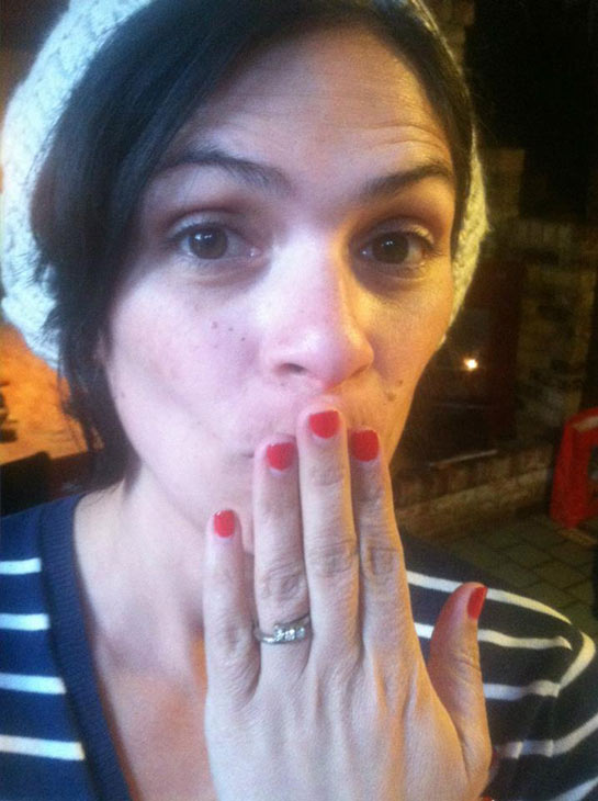 Rider Strong of &#39;Boy Meets World&#39; fame designed the engagement ring he gave Alexandra Barreto on Dec. 23, 2012. She is seen wearing it in this photo, which the actor&#39;s rep provided to OTRC.com on December 27. <span class=meta>(Rider Strong)</span>