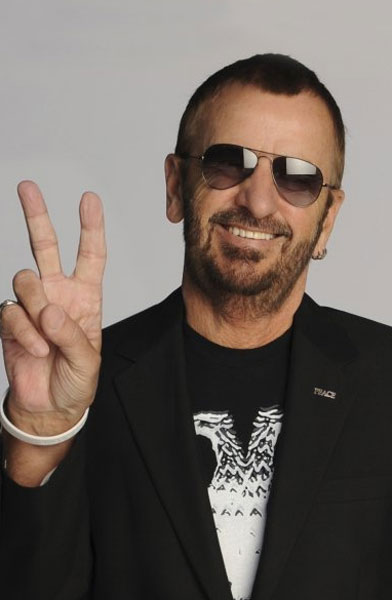 Ringo Starr appears in a photo posted on his facebook page on Jan 7, 2010.
