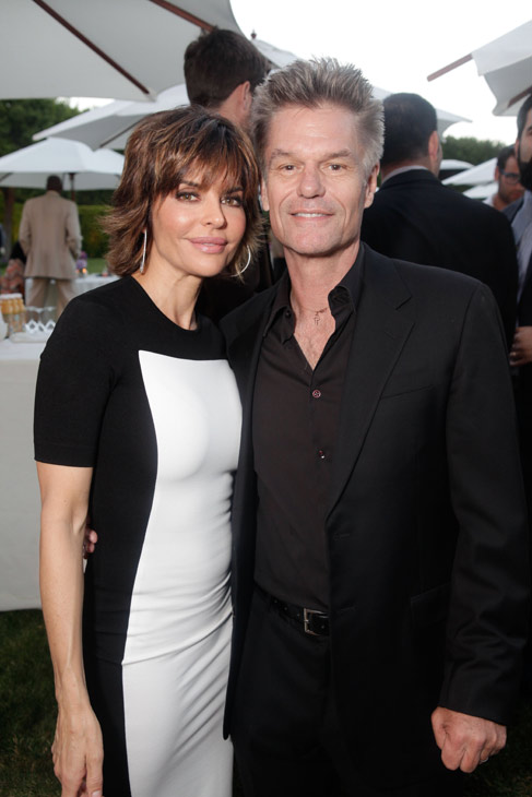 Lisa Rinna, soap star and 'Dancing With The Stars' season 2 finalist, and husband and actor Harry Hamlin attend the HollyRod Foundation's 14th Annual Design Care on July 21, 2012 in Malibu, California.