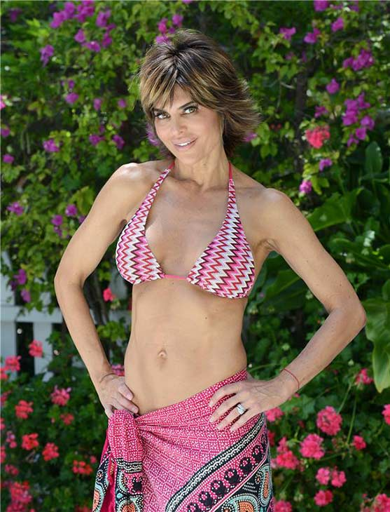 Lisa Rinna poses in a bikini at a house in Beverly Hills, California on May 10, 2013. She turned 50 on July 11. <span class=meta>(Michael Simon &#47; startraksphoto.com)</span>
