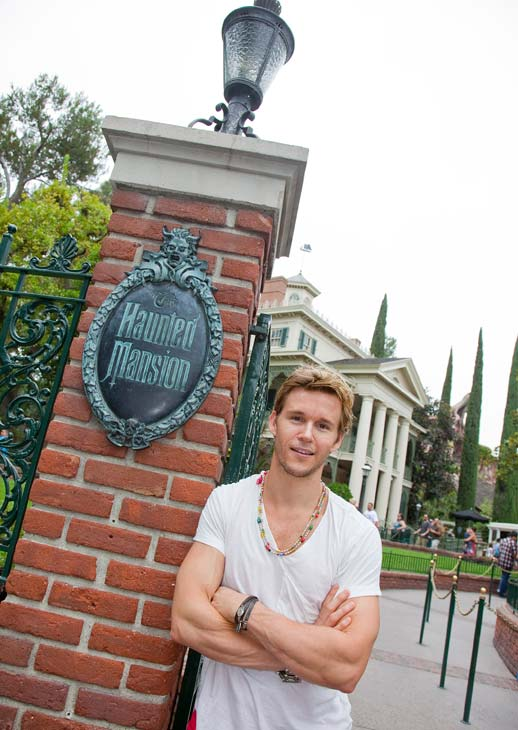 'True Blood' star Ryan Kwanten poses at the Haunted Mansion at Disneyland park in Anaheim, California, on Thursday, July 12, 2012.