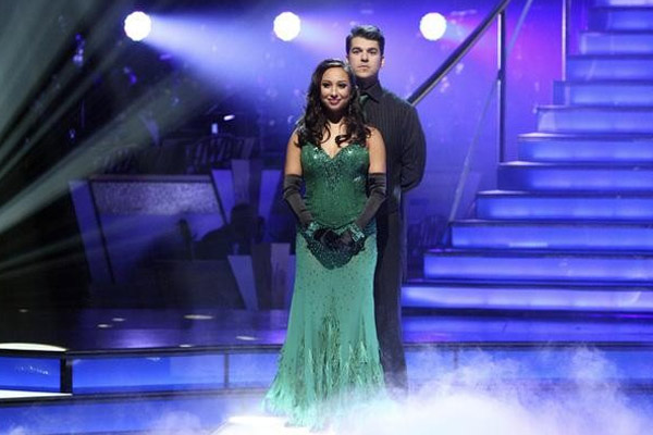 "<div class=""meta image-caption""><div class=""origin-logo origin-image ""><span></span></div><span class=""caption-text"">'Keeping Up With The Kardashians' star Rob Kardashian and his partner Cheryl Burke await their fate on 'Dancing With The Stars: The Results Show' on Tuesday, November 22. (ABC / Adam Taylor)</span></div>"