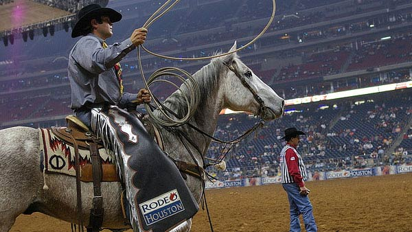 A photo of a rodeo in Houston from 2009.